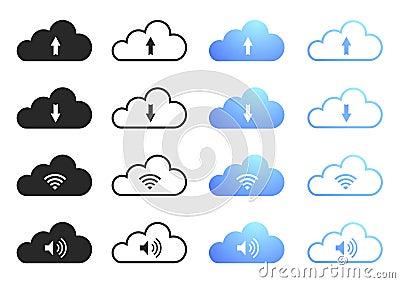 Вычислять облака - комплект 1
