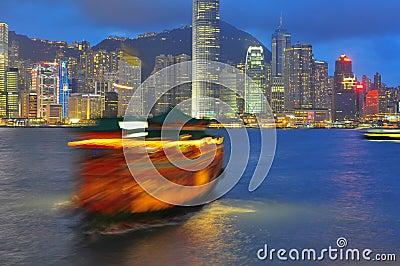 Гавань Hong Kong Редакционное Изображение