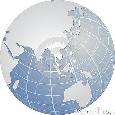 глобус Азии