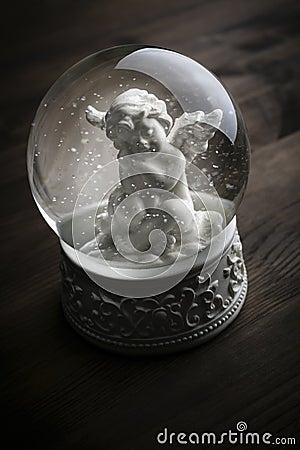 Глобус снежка