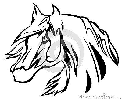 головная иллюстрация лошади