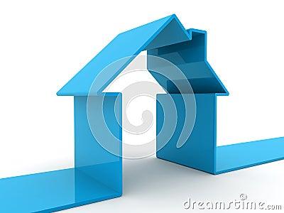 голубая дом