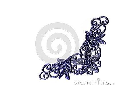 голубой шнурок