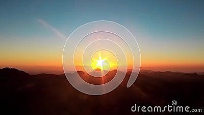 Гора Синай. Восход солнца сток-видео
