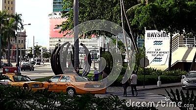 Городские пейзажи Майами США зоны Bayside акции видеоматериалы