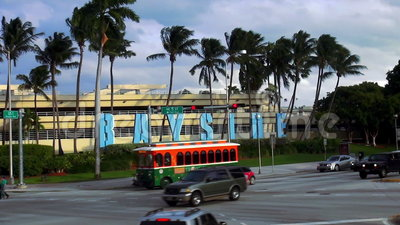 Городские пейзажи Майами Bayside США видеоматериал