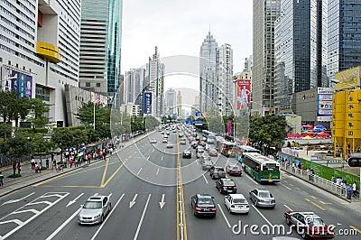 город shenzhen Редакционное Изображение