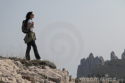 горы hiker