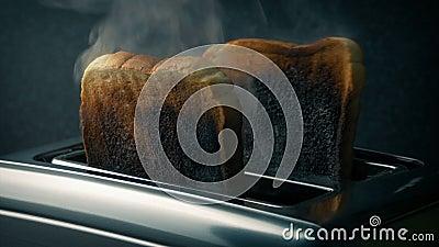 Горя тост в тостере акции видеоматериалы