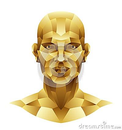 Голова человека утюга