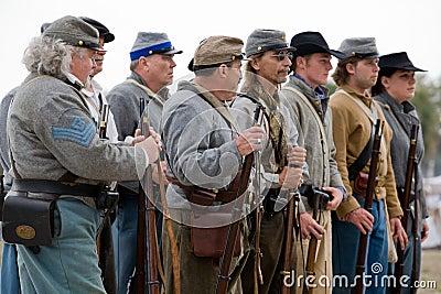 гражданское война reenactment Редакционное Стоковое Фото