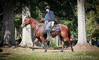 гражданское общее война horseback Редакционное Фотография