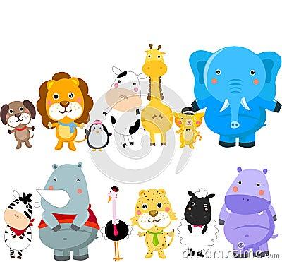Группа в составе животные