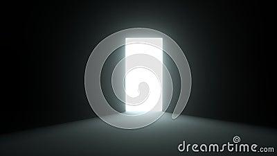 Дверь отверстия в свет бесплатная иллюстрация