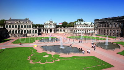 Дворец Zwinger, XVIII столетие - известное историческое здание в Дрездене видеоматериал