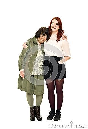 Девушка с ее бабушкой