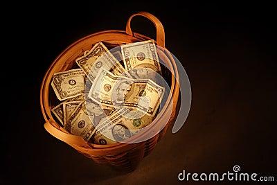 деньги корзины