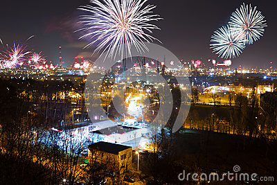 Дисплей феиэрверков Новый Год Eve