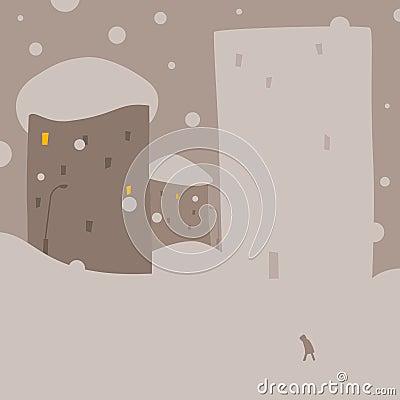Дом снежка