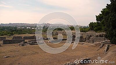 Древний город Salona, столетие Хорватии 7 ДО РОЖДЕСТВА ХРИСТОВА акции видеоматериалы