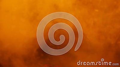 Дым Hd золота костра видеоматериал