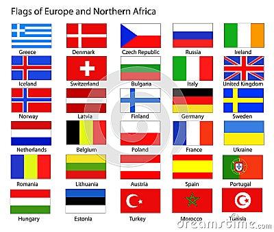 Стоковое фото rf европейские флаги