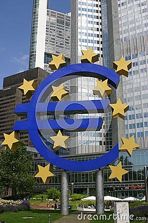 евро Редакционное Стоковое Изображение