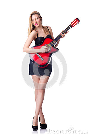Женский игрок гитары