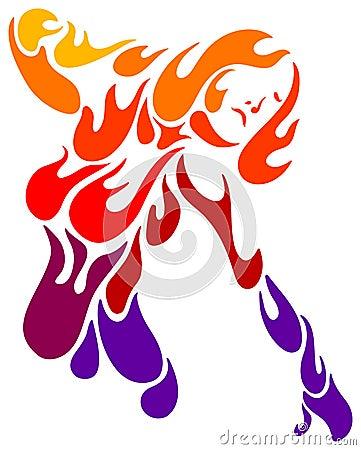 женский пожар