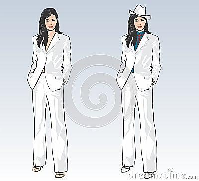 женственный костюм