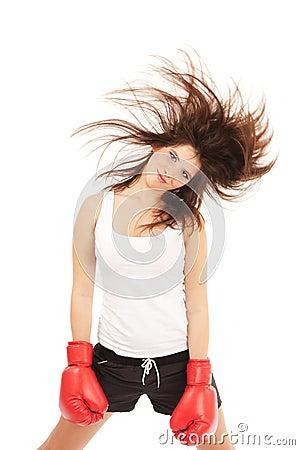 женщина бокса