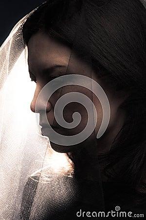 женщина вуали