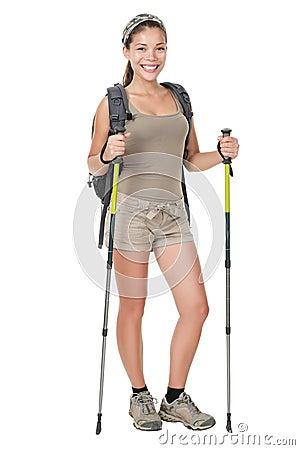 женщина изолированная hiker