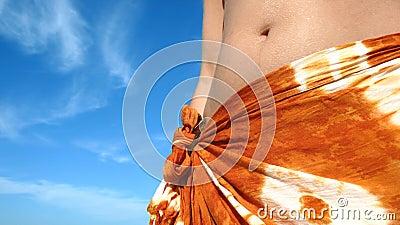 женщина лета тропическая