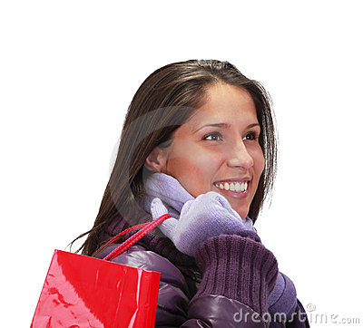 женщина покупкы мешка