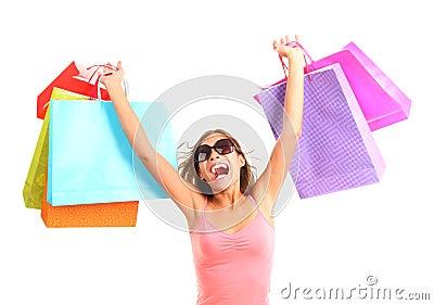 женщина покупкы