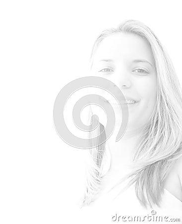 женщина светлого тонового изображения