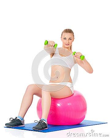 Женщина фитнеса