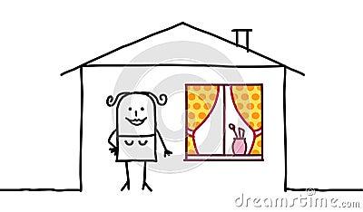 женщина дома украшения