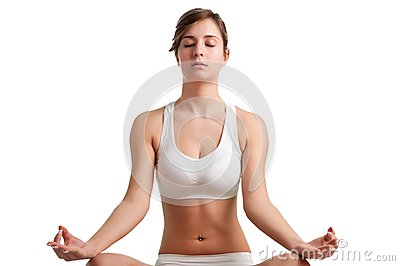 Женщина Meditating