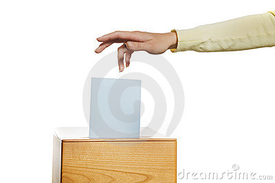 женщины избрания коробки ballots ballot