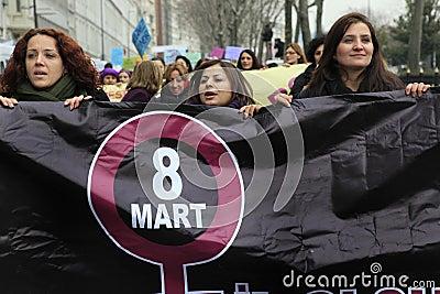 женщины дня международные s Редакционное Фото
