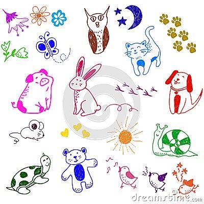 животные doodles