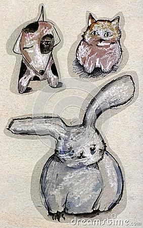 животный чертеж