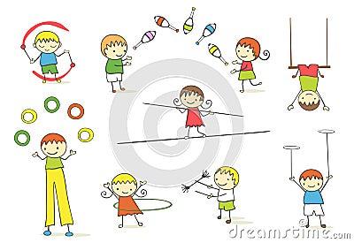 жонглируя малыши