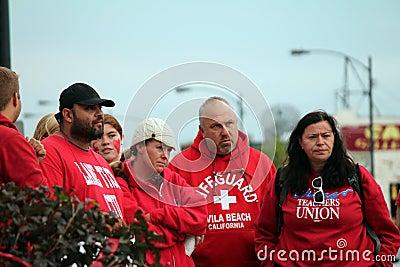 забастовка 0n Редакционное Стоковое Фото