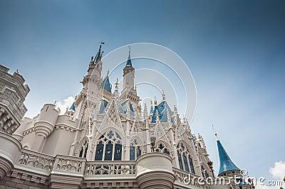 Замок Дисней Редакционное Стоковое Изображение