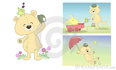 заполненная страница медведя