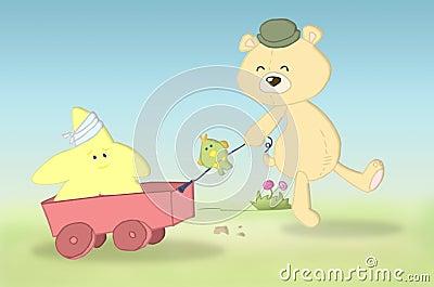 заполненный медведь