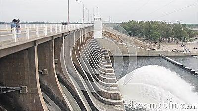 Запруда Рио Hondo, в Santiago del Estero Аргентине сток-видео